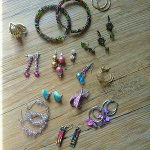 Bundle of 16 Earrings for Pierced Ears